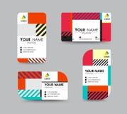 Modern adreskaartje en van de naamkaart ontwerp Stock Fotografie