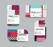 Modern adreskaartje en van de naamkaart ontwerp Royalty-vrije Stock Fotografie