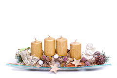 Modern advent wreath Stock Images