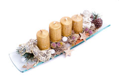 Modern advent wreath Royalty Free Stock Image