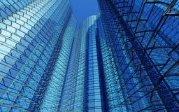 modern affär för byggnader 3d Arkivfoton