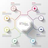 Modern affärsInfographics oktogon också vektor för coreldrawillustration stock illustrationer