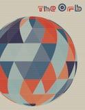 Modern affisch för konst med orben som textureras av trianglar Royaltyfri Foto