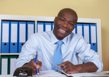 Modern african american businessman at office Royalty Free Stock Photo