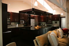 Modern African interior kitchen Stock Image