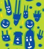 Modern African Mask Pattern Stock Image