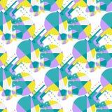 Modern African seamless pattern. Endless tribal geometric summer background Stock Photos