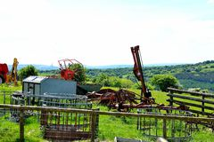 modern agricultural farm equipment Royalty Free Stock Photos