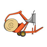 Modern agricultural machinery for  of hay and rolling circles.Agricultural Machinery single icon in cartoon style  Stock Photo