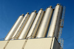Modern agricultural silo Royalty Free Stock Images