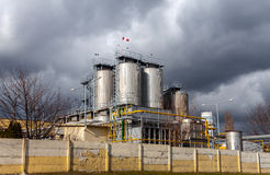 Agricultural silo outdoors Royalty Free Stock Photos