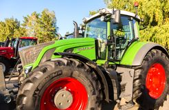Modern agricultural tractor Fendt 933 Vario at the annual Volga Stock Photo