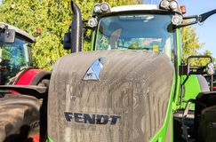 Modern agricultural tractor Fendt 933 Vario at the annual Volga Stock Photography