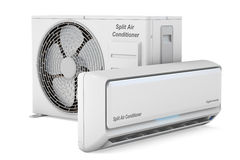 Modern air conditioner system Royalty Free Stock Photos