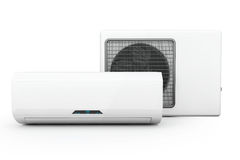 Modern air conditioner Stock Photo