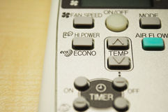 Modern air conditioning remote control Royalty Free Stock Image