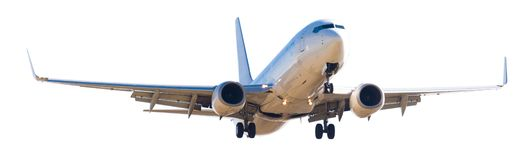 Modern airplane on isolated white background Stock Photos
