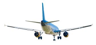 Modern airplane on isolated white background Royalty Free Stock Images
