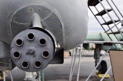 Modern airplane machine gun Royalty Free Stock Images