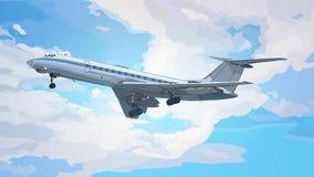 Modern airplane Royalty Free Stock Image