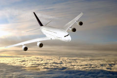Modern airplane  in the sky near Airport. Modern airplane  in the sky  stratosphere Royalty Free Stock Photography