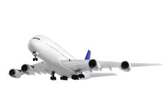 Modern airplane on white. Modern airplane isolated on white background royalty free stock images