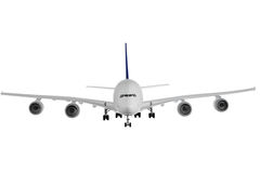 Modern airplane on white. Modern airplane isolated on white background stock images