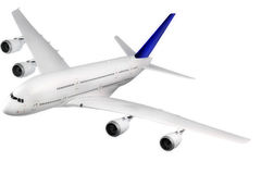 Modern airplane  on white. Royalty Free Stock Image