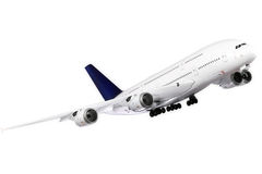 Modern airplane  on white. Royalty Free Stock Photography