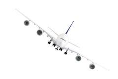 Modern airplane  on white. Royalty Free Stock Photos