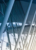 Modern airport building with glass wall Royalty Free Stock Image