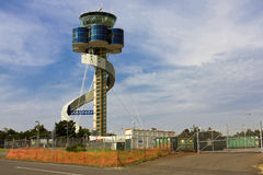 Modern airport control tower in Australia. Royalty Free Stock Photography