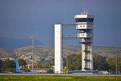A Modern airport Control Tower Stock Photography