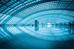 Modern airport express station in beijing. China royalty free stock image