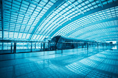 Modern airport express train in beijing Royalty Free Stock Photo