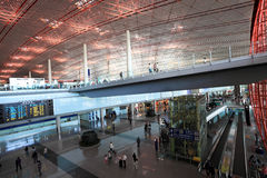 Modern airport hall Stock Images