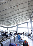 Modern airport hall Stock Image