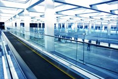Modern airport interior Stock Images