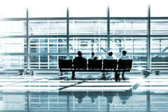 Modern airport lounge Royalty Free Stock Photo
