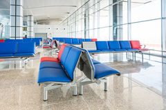 Modern Airport Lounge Seat Rows Royalty Free Stock Image