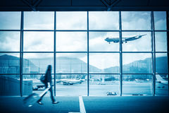 Modern airport scene Royalty Free Stock Image