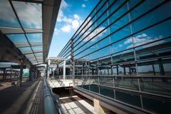 Modern airport terminal Stock Photos