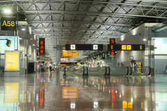 Modern airport terminal, Brussels Airport, Belgium Stock Photos
