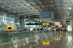 Modern airport terminal, Brussels Airport, Belgium Stock Image