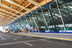 Modern airport terminal Stock Images