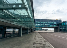 Modern airport terminal made of steel and glass Stock Photography
