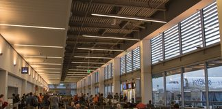 Modern airport terminal Royalty Free Stock Image