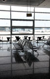 Modern airport terminal waiting room Royalty Free Stock Images