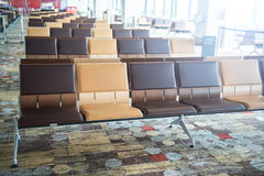 Modern airport terminal waiting room Stock Image