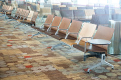 Modern airport terminal waiting room Royalty Free Stock Photo
